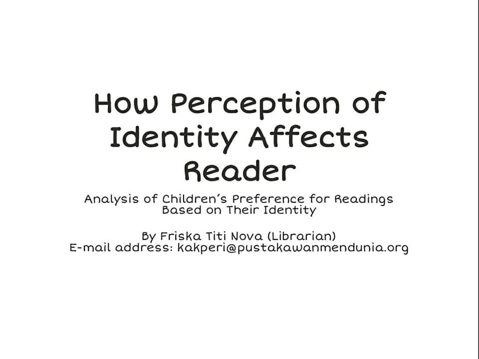 Analysis of Children's Preference for Readings Based on Their Identity