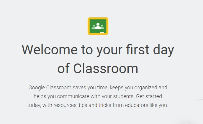 Welcome to Your First Day of Classroom