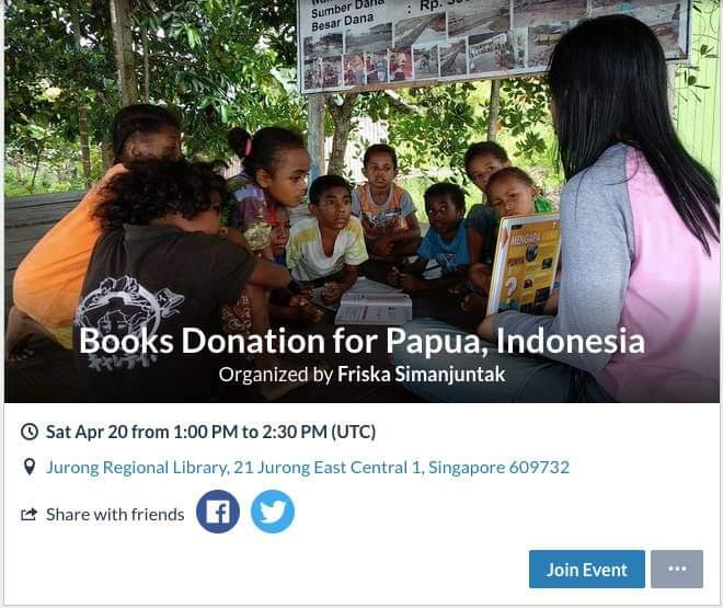 Donasi Buku ke Papua