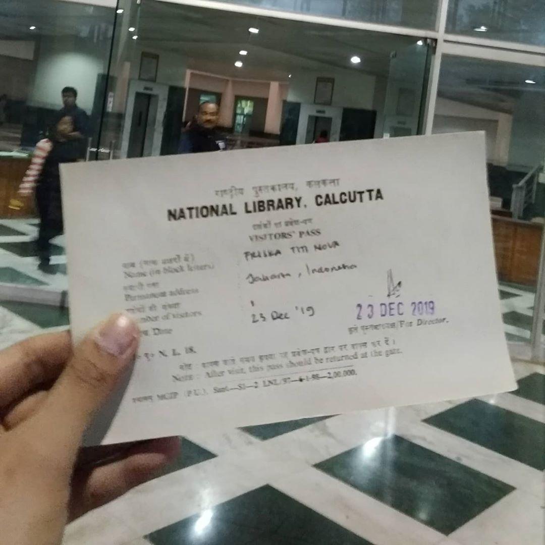 Kartu Pengunjung di Perpustakaan Nasional India