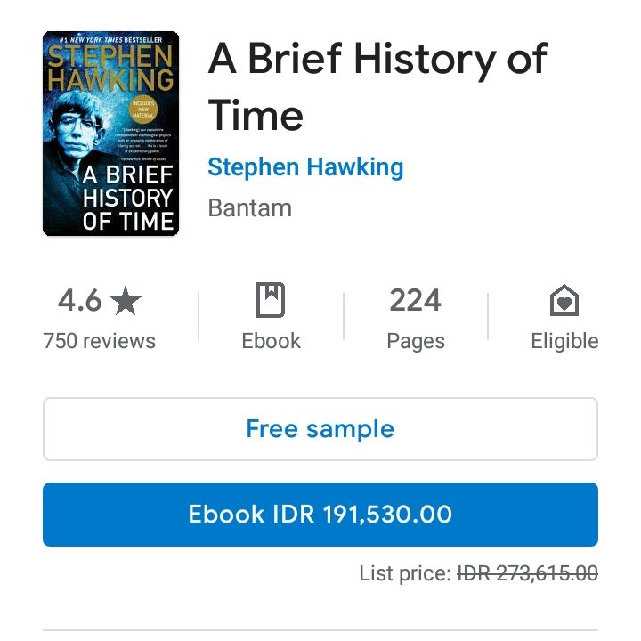 Berbelanja Ebook di Google Play Books Store